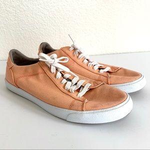 Cole Haan Pastel Orange Canvas Lace Up Sneakers